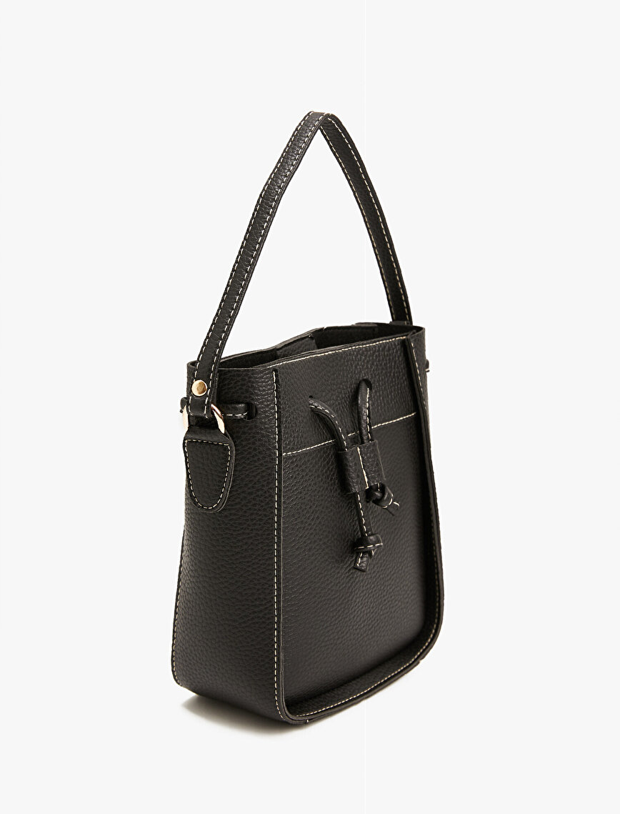 Leather Bag Drawstring Bucket