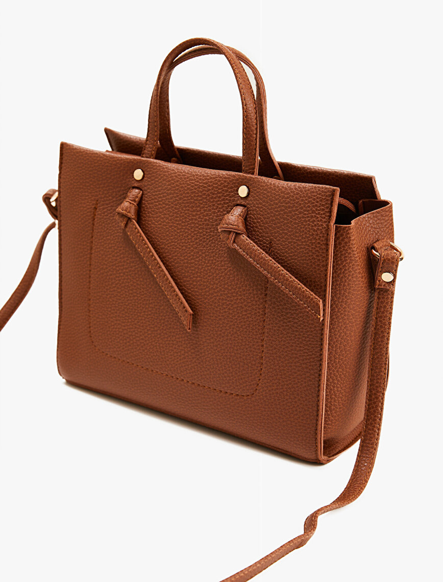 Leather Bag Knot Detailed