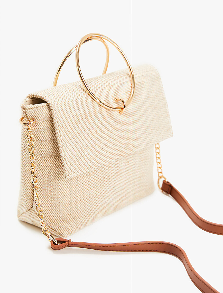 Chain Bag Leather Detailed Tote