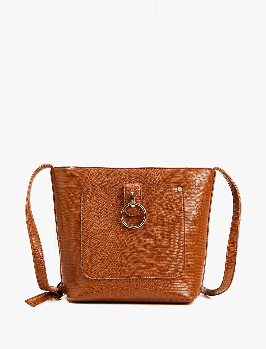 Front Pocket Detailed Shoulder Bag