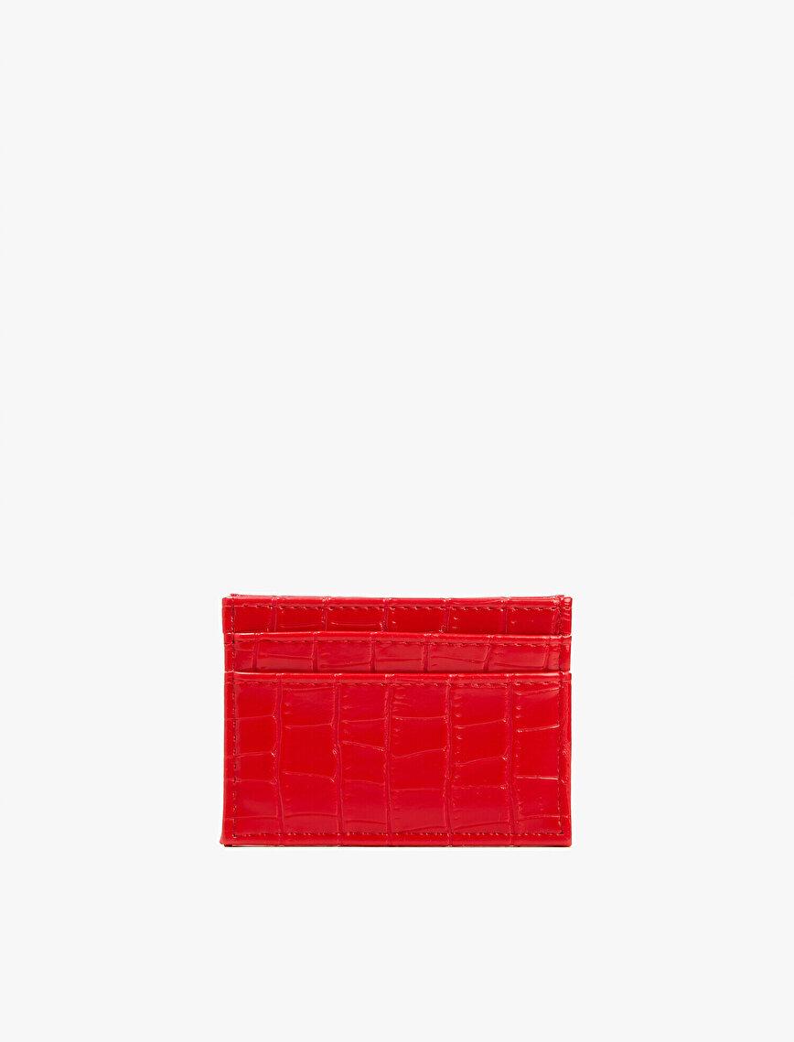 Crocodile Leather Patterned Wallet