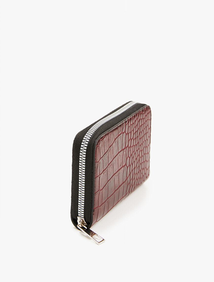 Leather Wallet Crocodile Texture