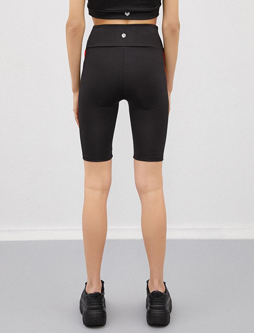 Biker Shorts Stripe Detailed