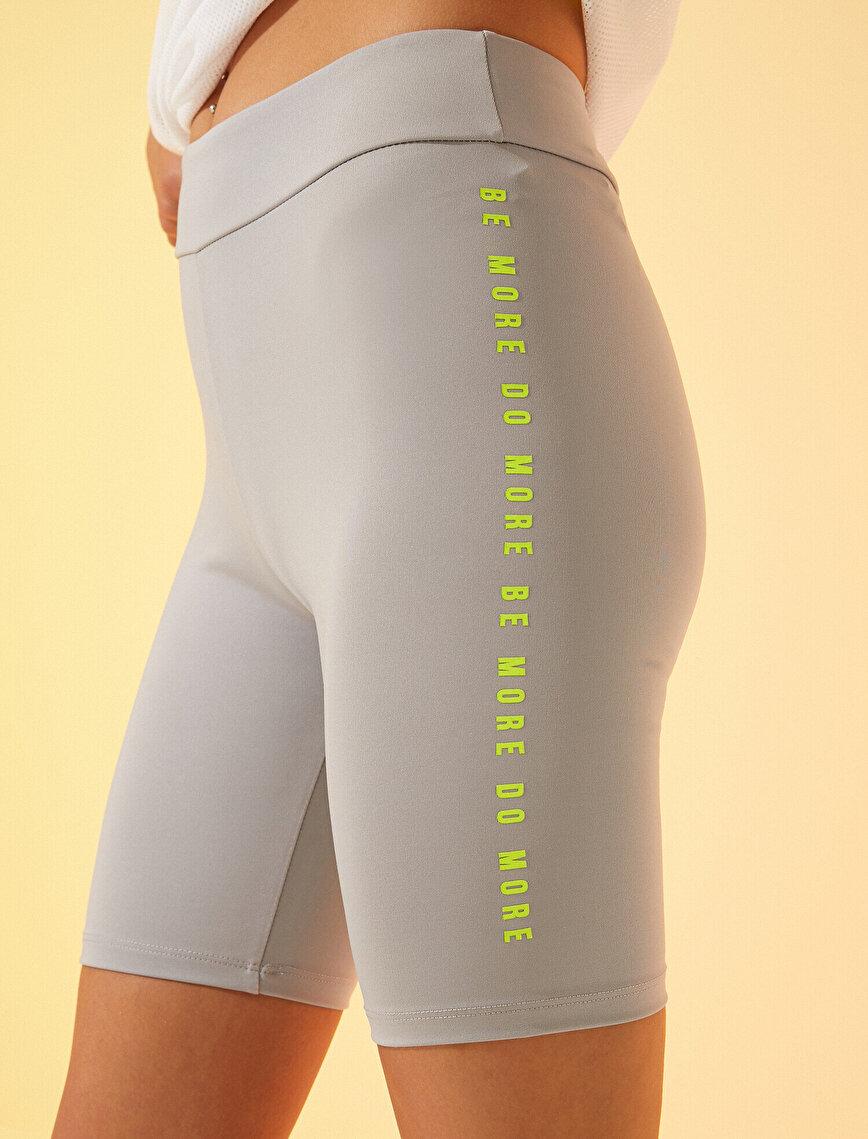 Slogan Biker Shorts  Neon