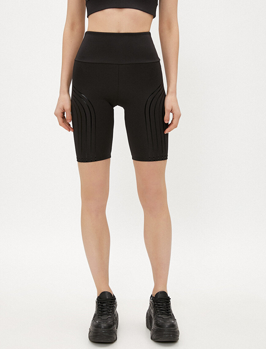 Biker Shorts Striped Biker Leggings