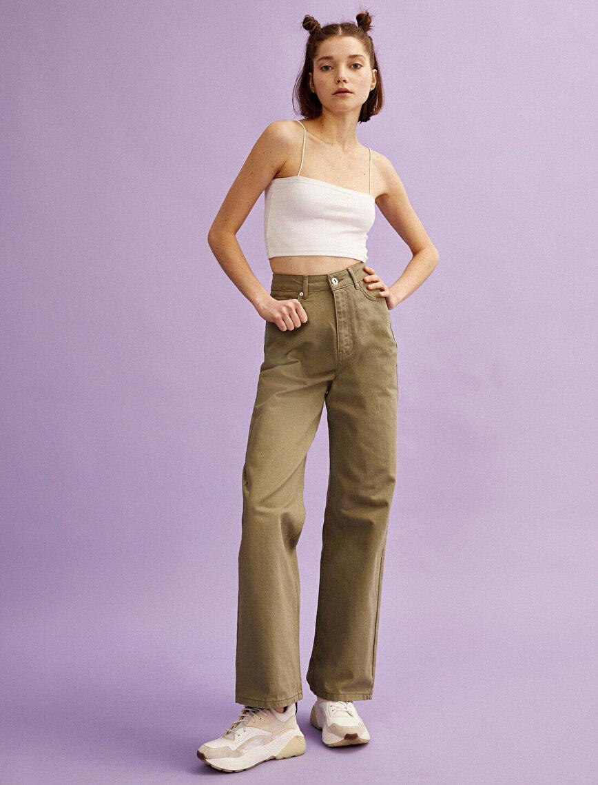 Wide Leg Jeans Cotton