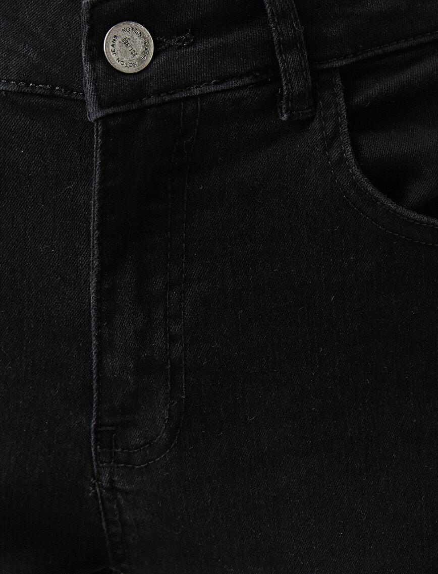 Pamuklu Skinny Carmen Jean - Yüksek Bel Dar Kesim Dar Paça Pantolon