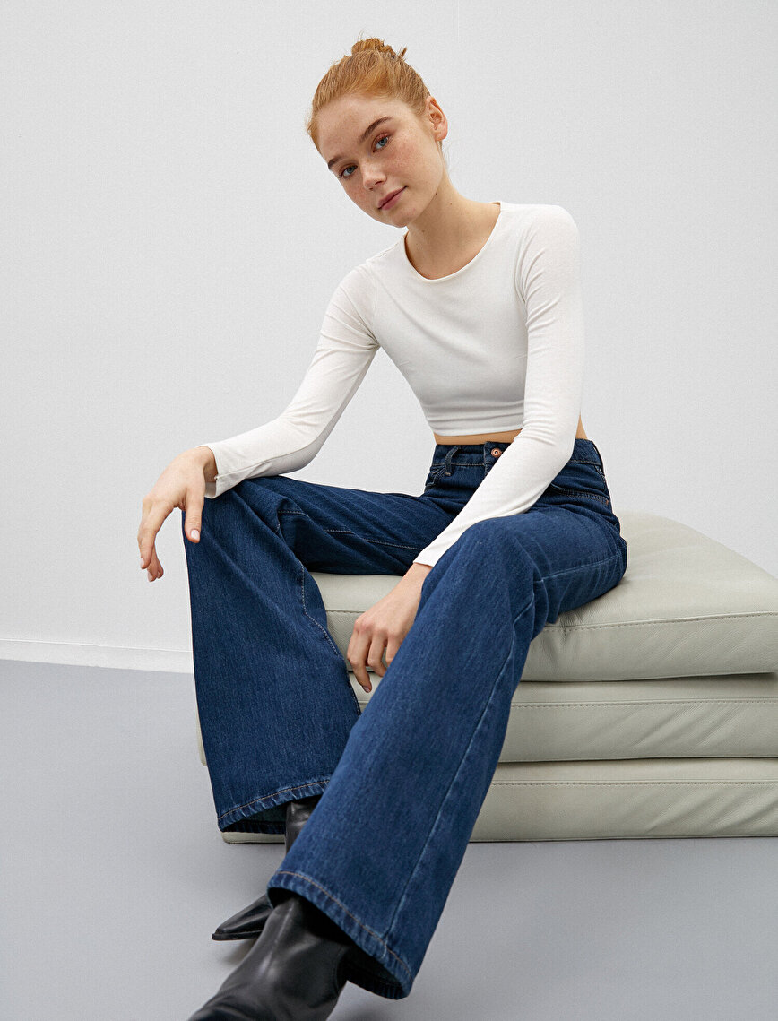 Wide Leg Flare Jeans