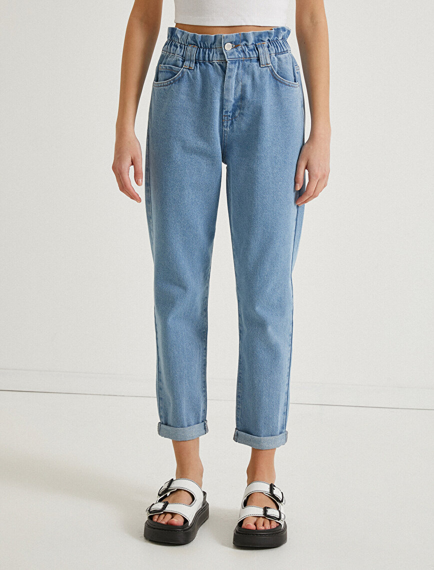High Waist Mom Jean Cotton