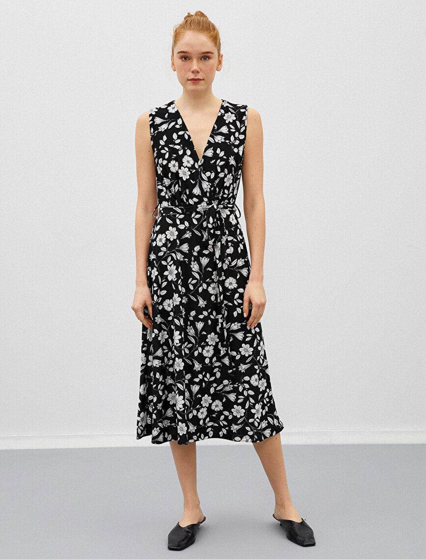 Floral Dress Wrap Sleeveless
