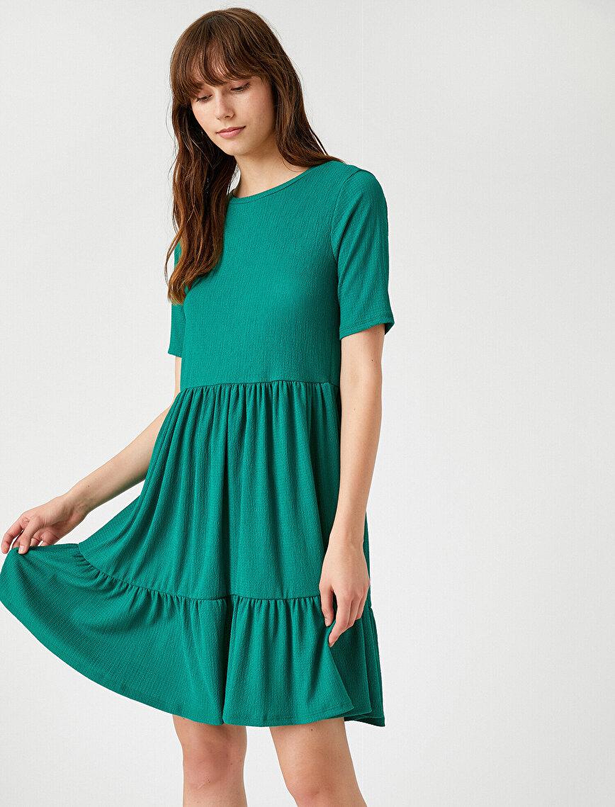 Short Sleeve Dress Crew Neck