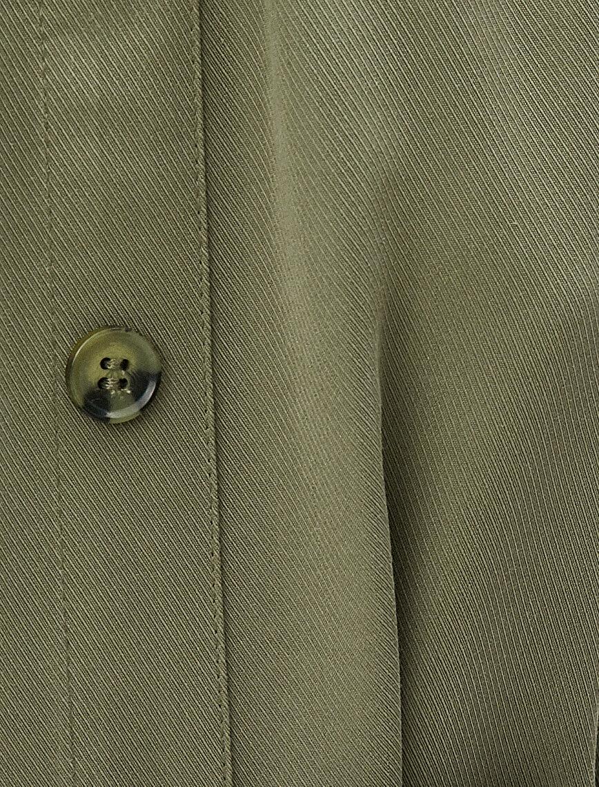Omzu Açık Elbise Kısa Kollu Düğmeli Kemerli