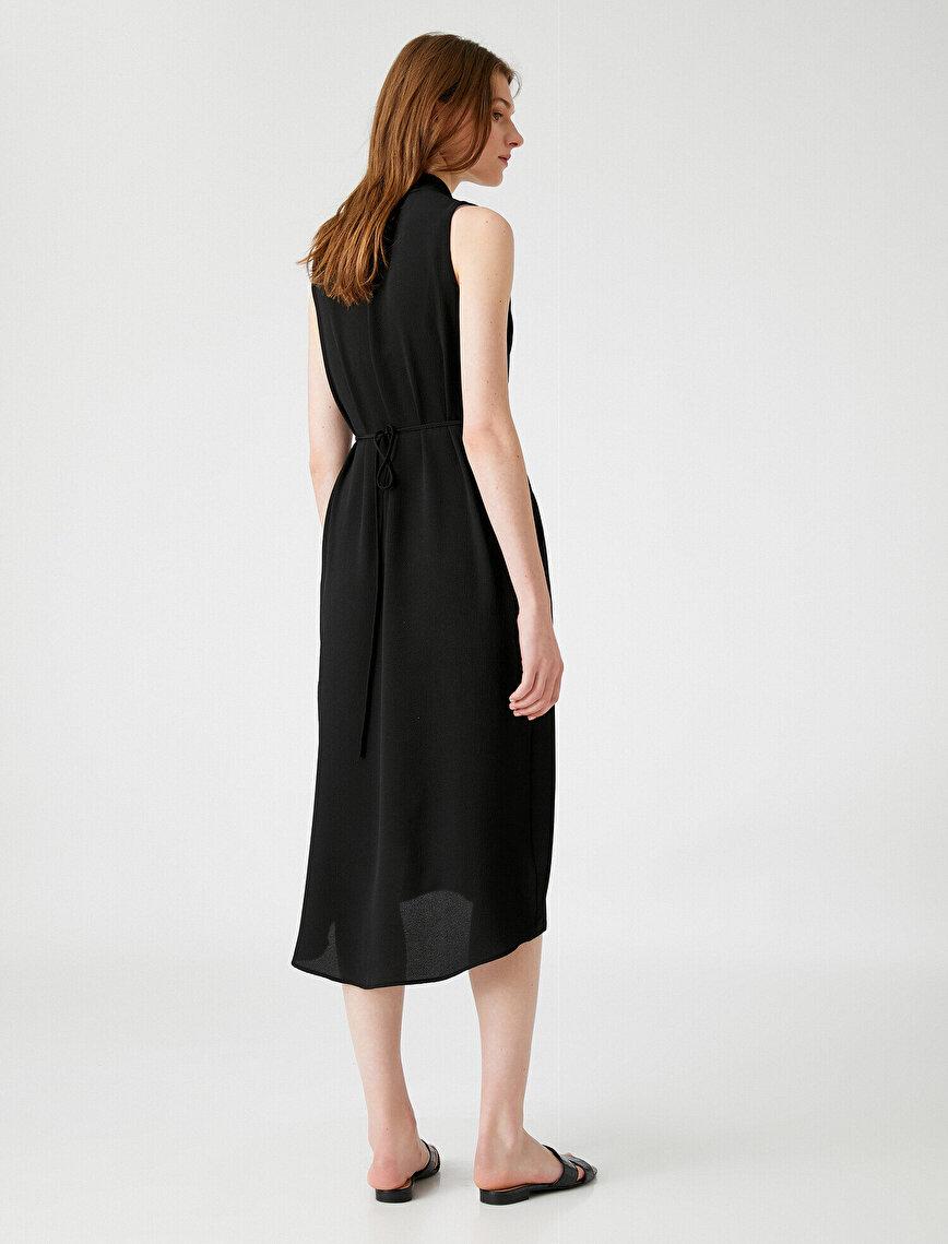 V Neck Dress Sleeveless Pocket