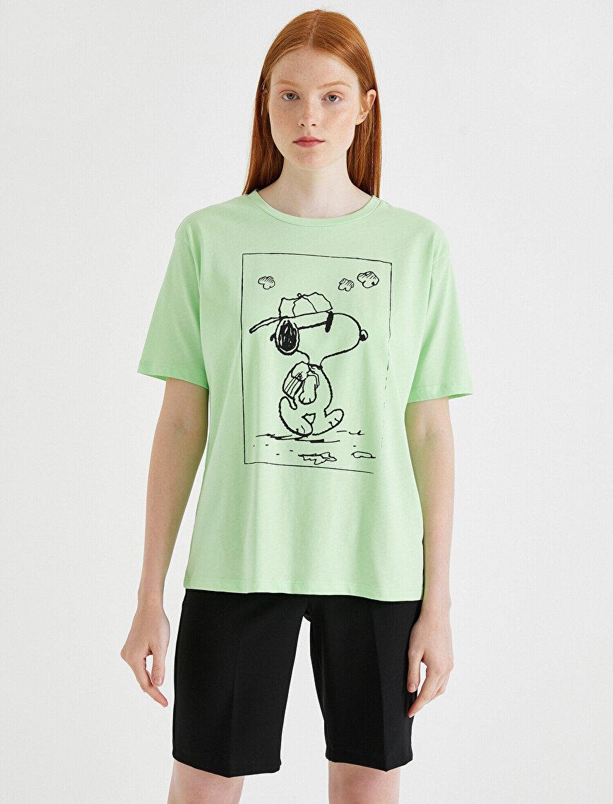 Snoopy Lisanslı Tişört Pamuklu