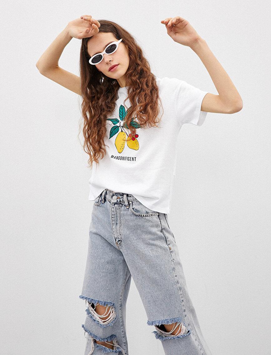 Printed T-Shirt Crew Neck Cotton