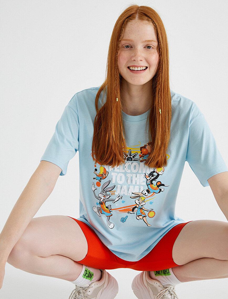 Space Jam Tişört Lisanslı Pamuklu