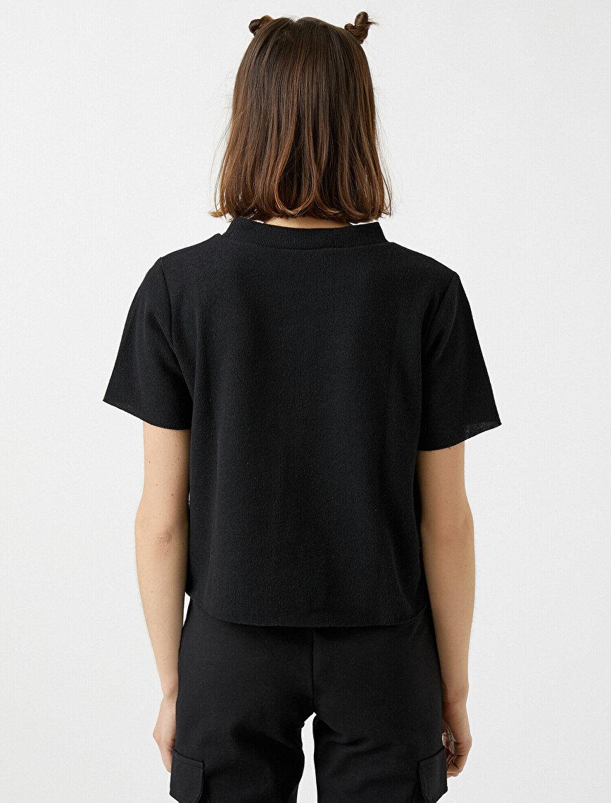 Stand Neck Short Sleeve T-Shirt