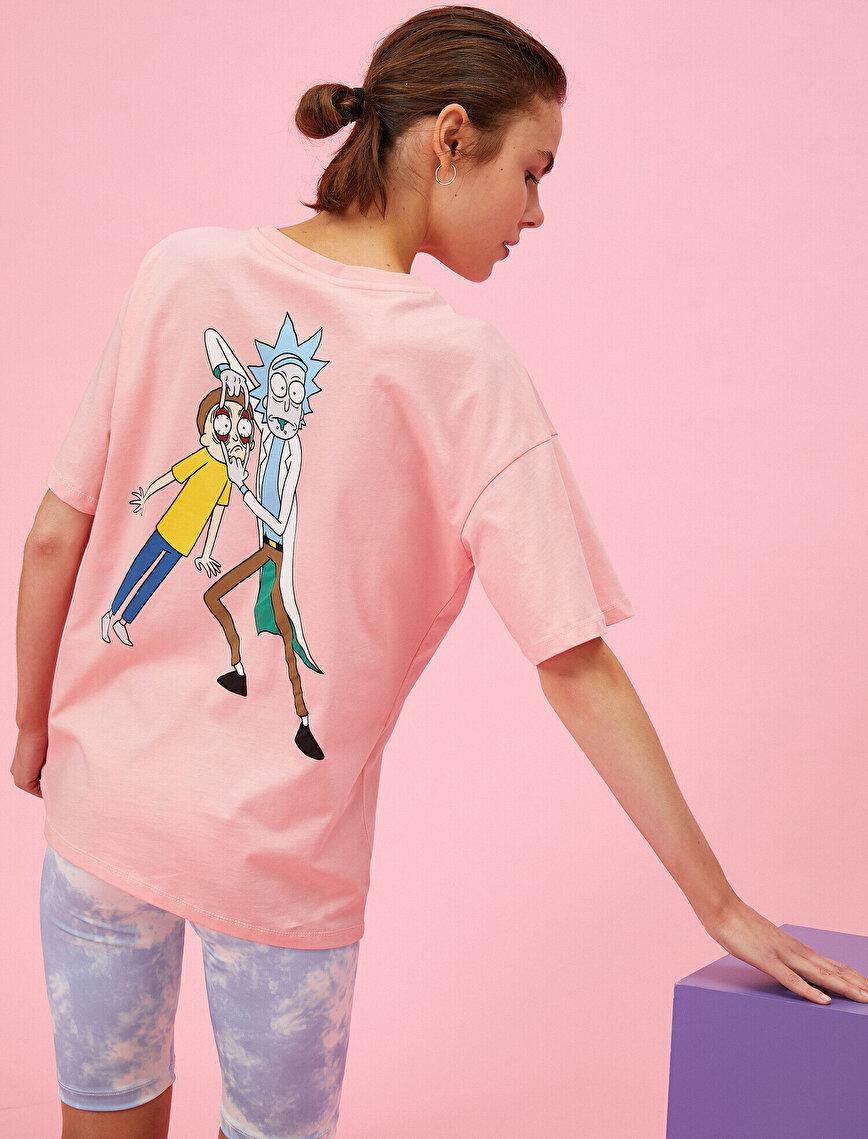 Rick and Morty Tişört Lisanslı Pamuklu Oversize