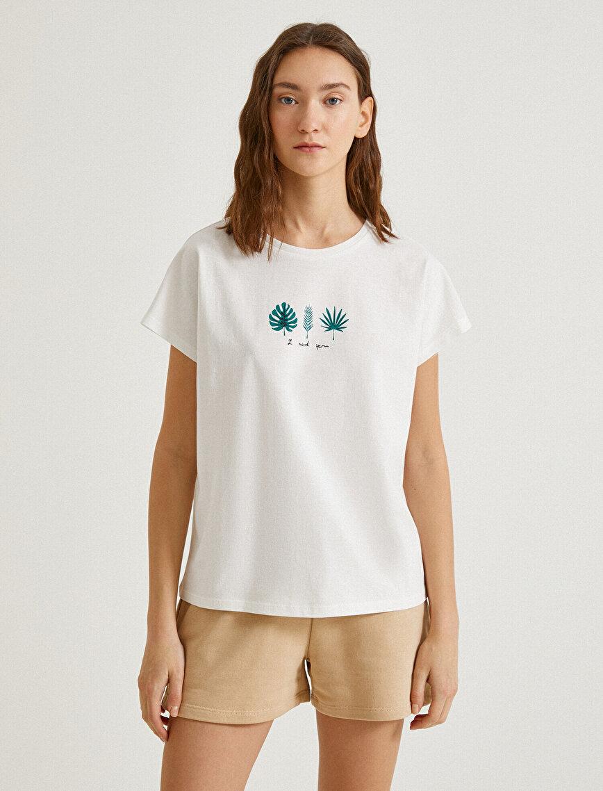 Short Sleeve T-Shirt Printed Cotton