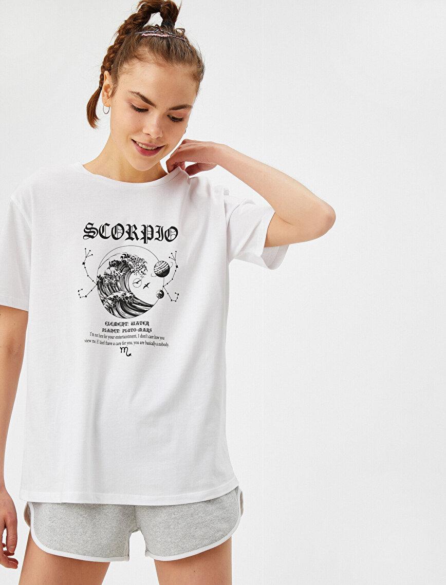 Akrep Burcu - Baskılı Tişört Pamuklu