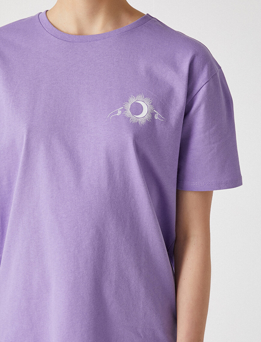 Letter Printed T-Shirt Cotton