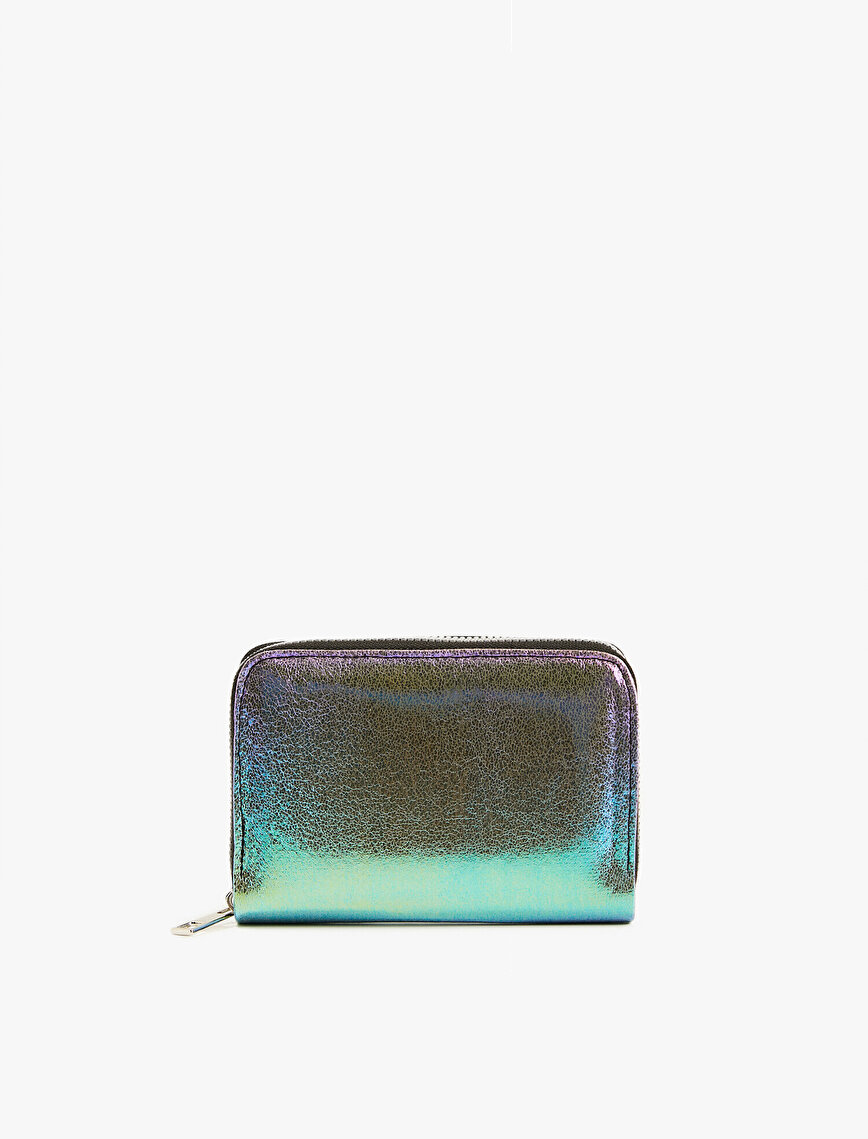 Leather Wallet Metallic