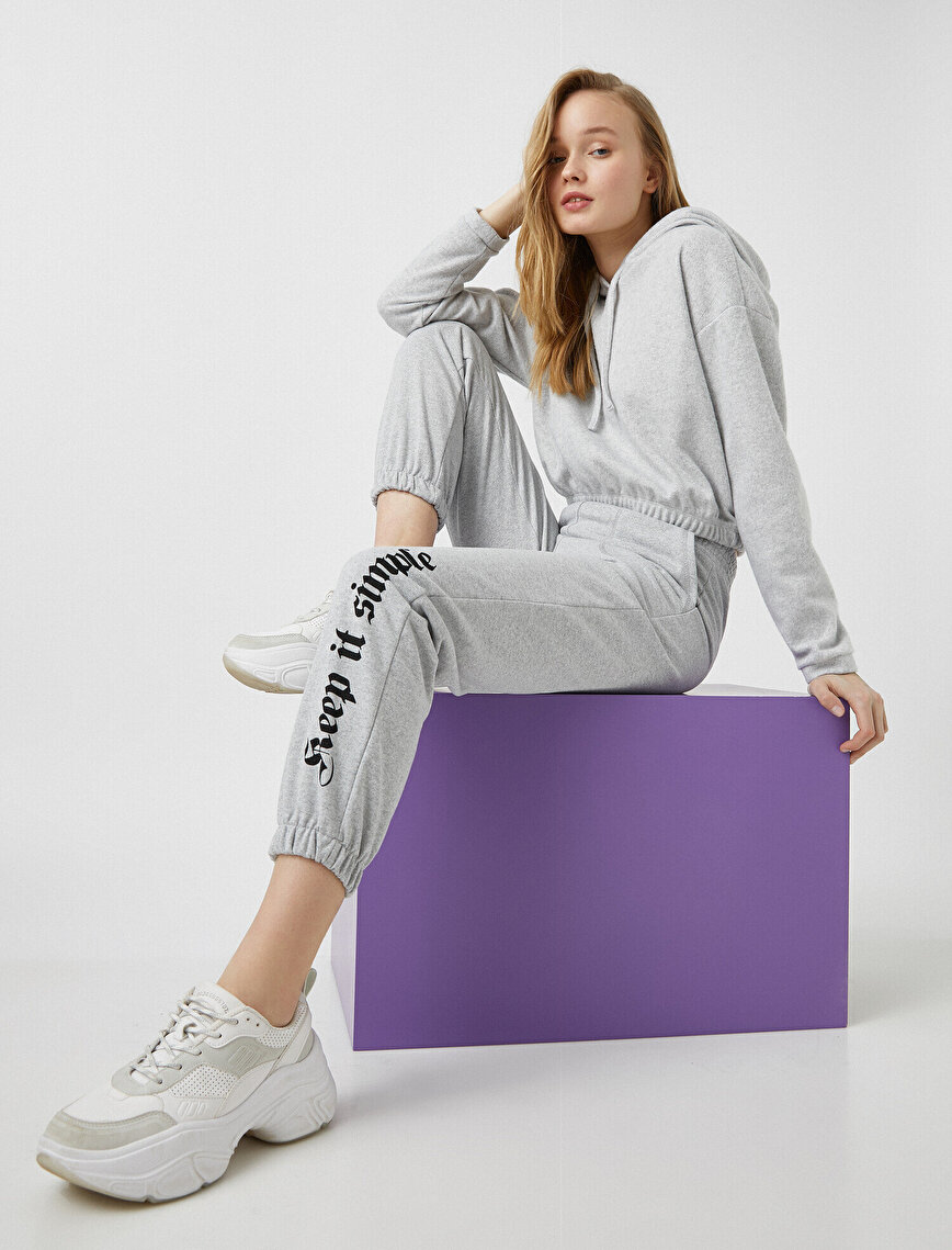 Jogger Sweatpants Letter Printed