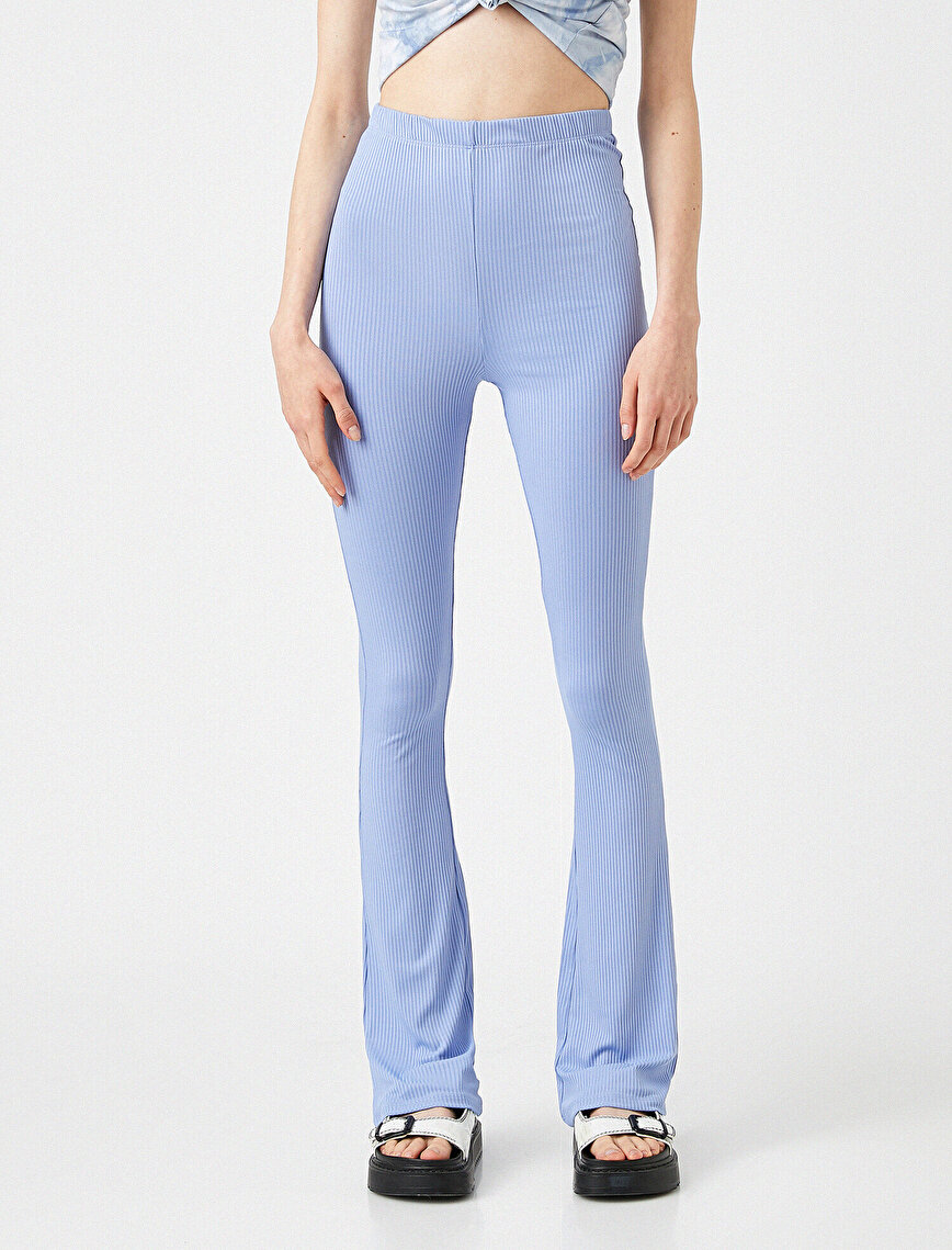 Ribbed Trousers Wide Leg