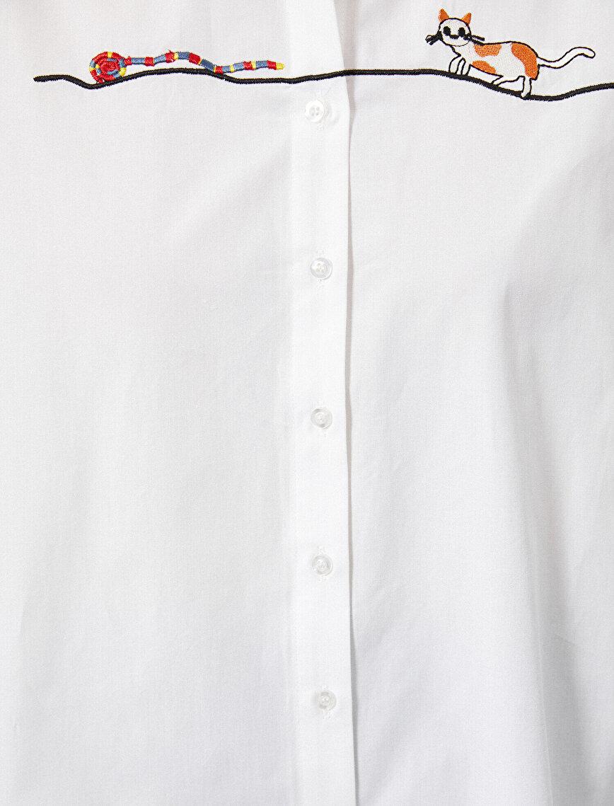 Baskılı Gömlek Pamuklu
