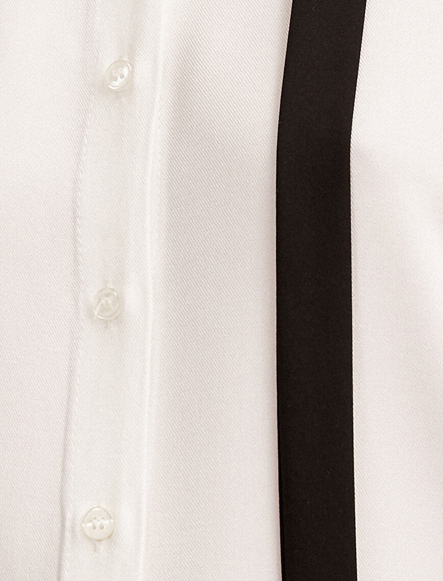 Foulard Neck Shirt Frill Detailed Long Sleeve
