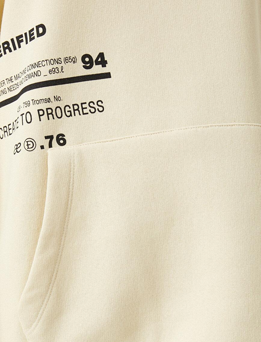 Hooded Sweatshirt Cotton Oversize Printed