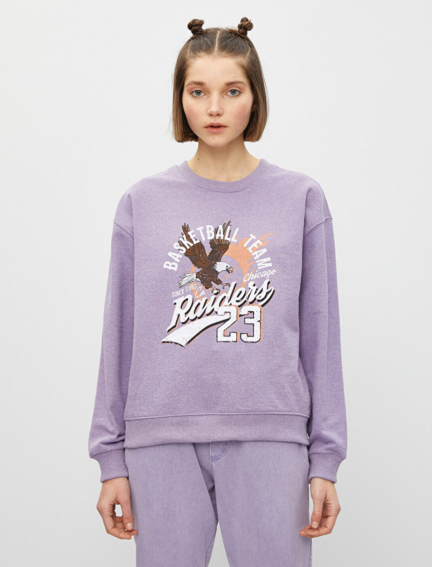 Cotton Crew Neck Printed Sweatshirt