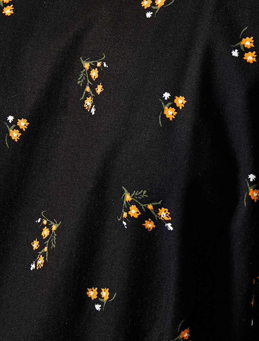 Poplin Elbise Çiçekli