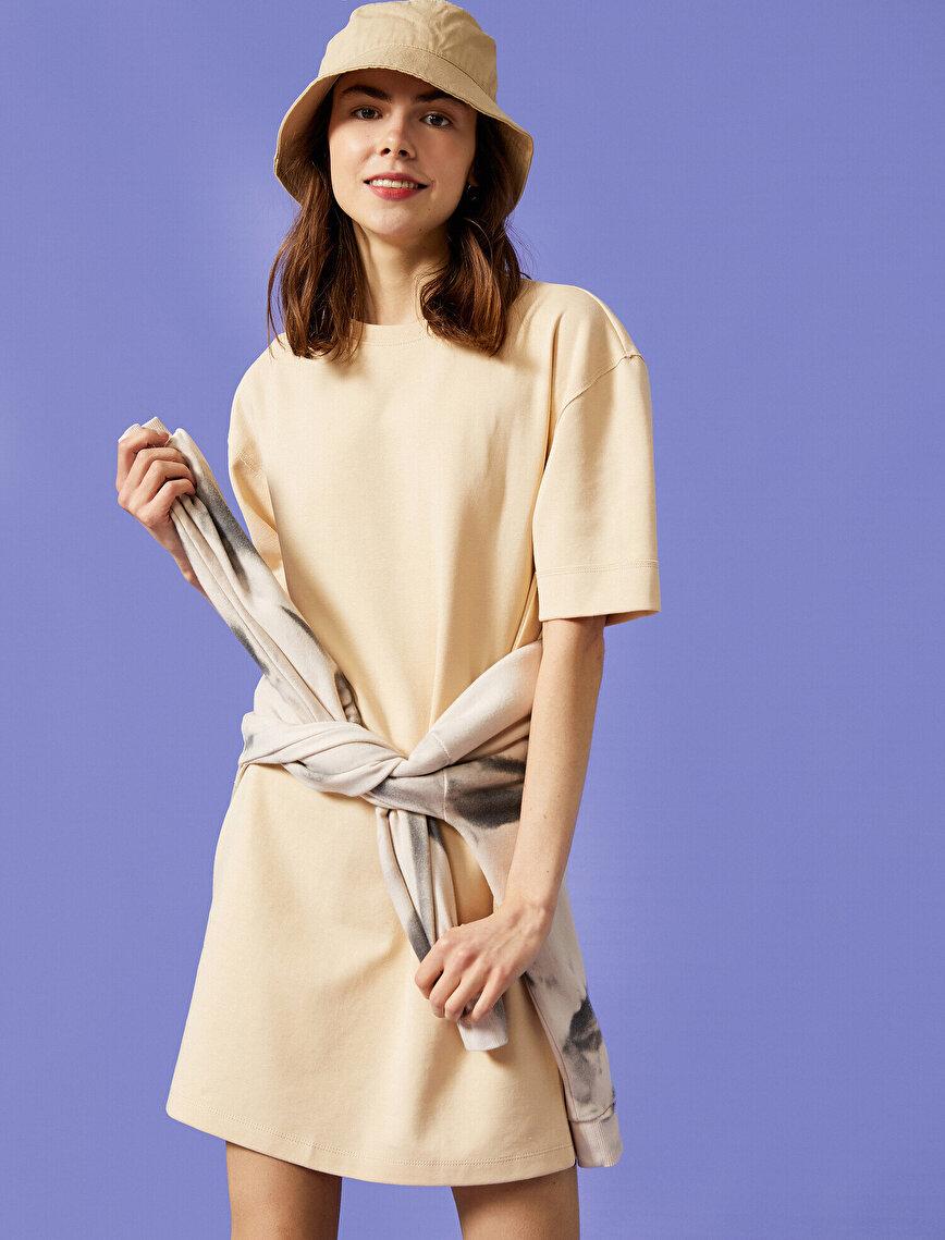 Kısa Kollu Uzun Tişört Elbise