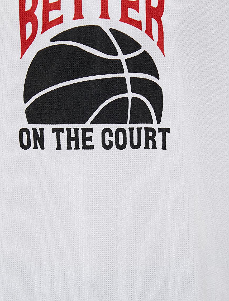 Printed Short Sleeve Crew Neck T-Shirt