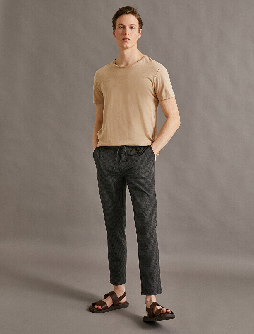 Tapared Fit Trousers Pocket  Drawstring