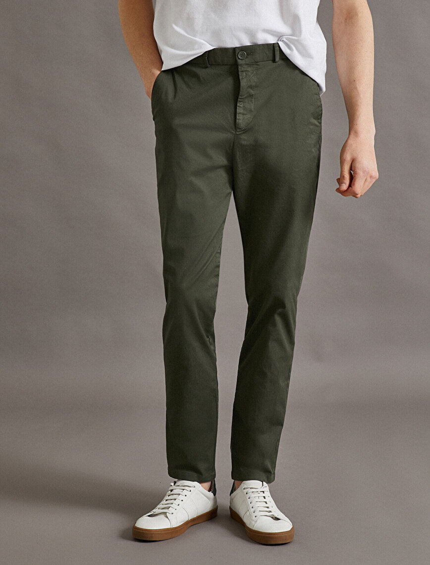 Tapared Fit Trousers Pocket Cotton