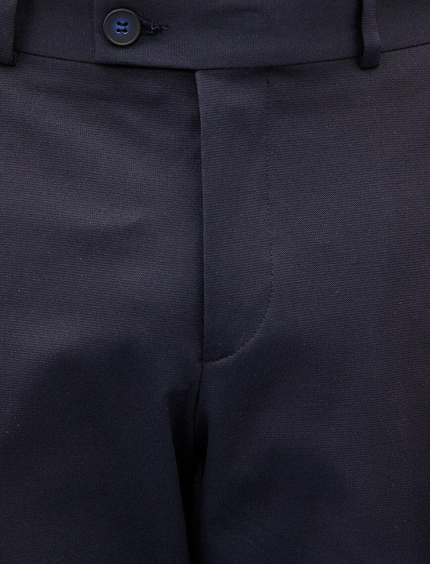 Slim Fit Trousers Pocket Cotton