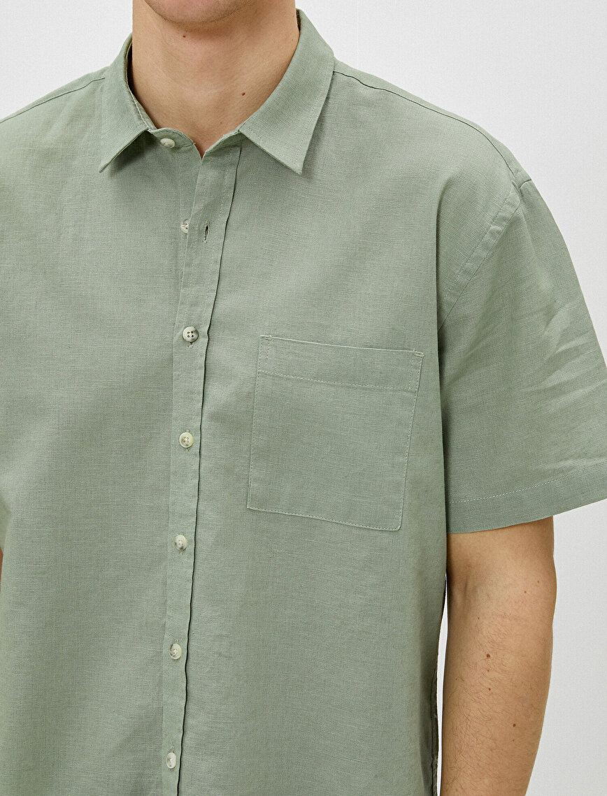 Kısa Kollu Gömlek Klasik Yaka Regular Fit