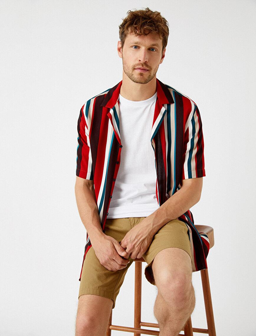 Short Sleeve Shirt Striped