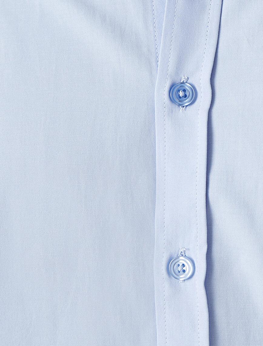 Classic Collar Long Sleeve Basic Shirt