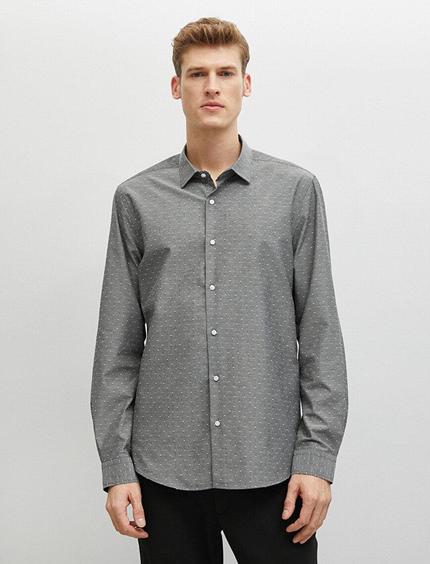Cotton Classic Collar Long Sleeve Shirt