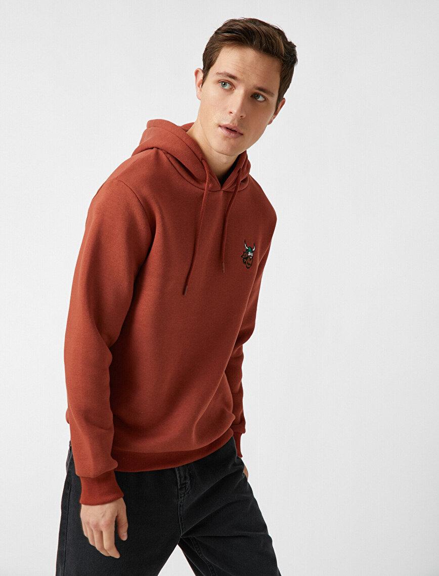 Embellished Hooded Long Sleeve Sweatshirt