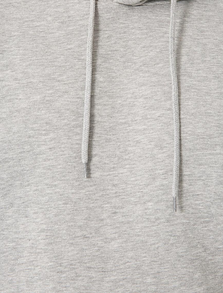 Kapüşonlu Uzun Kollu Sweatshirt