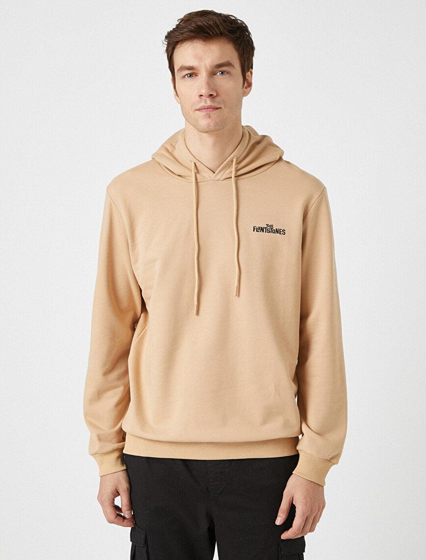 Letter Printed Hooded Long Sleeve Sweatshirt