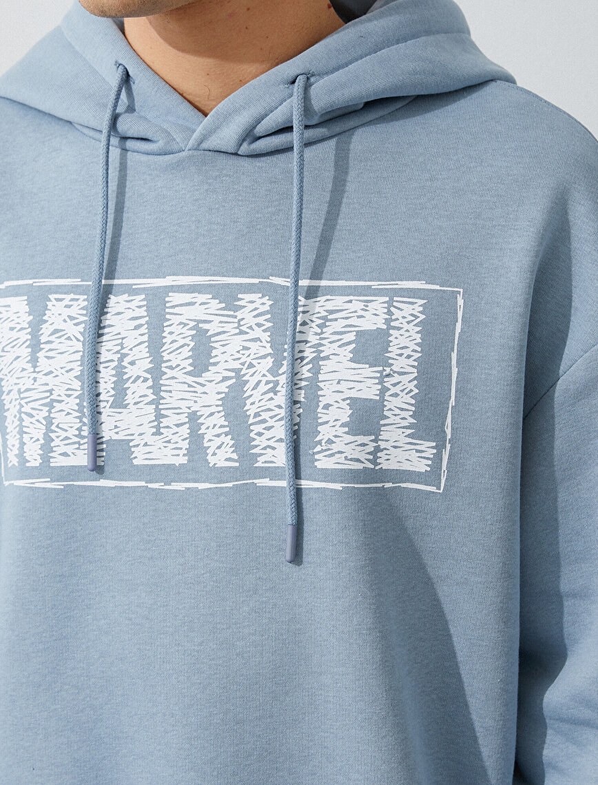 Marvel Licensed Printed Hooded Cotton Sweatshirt