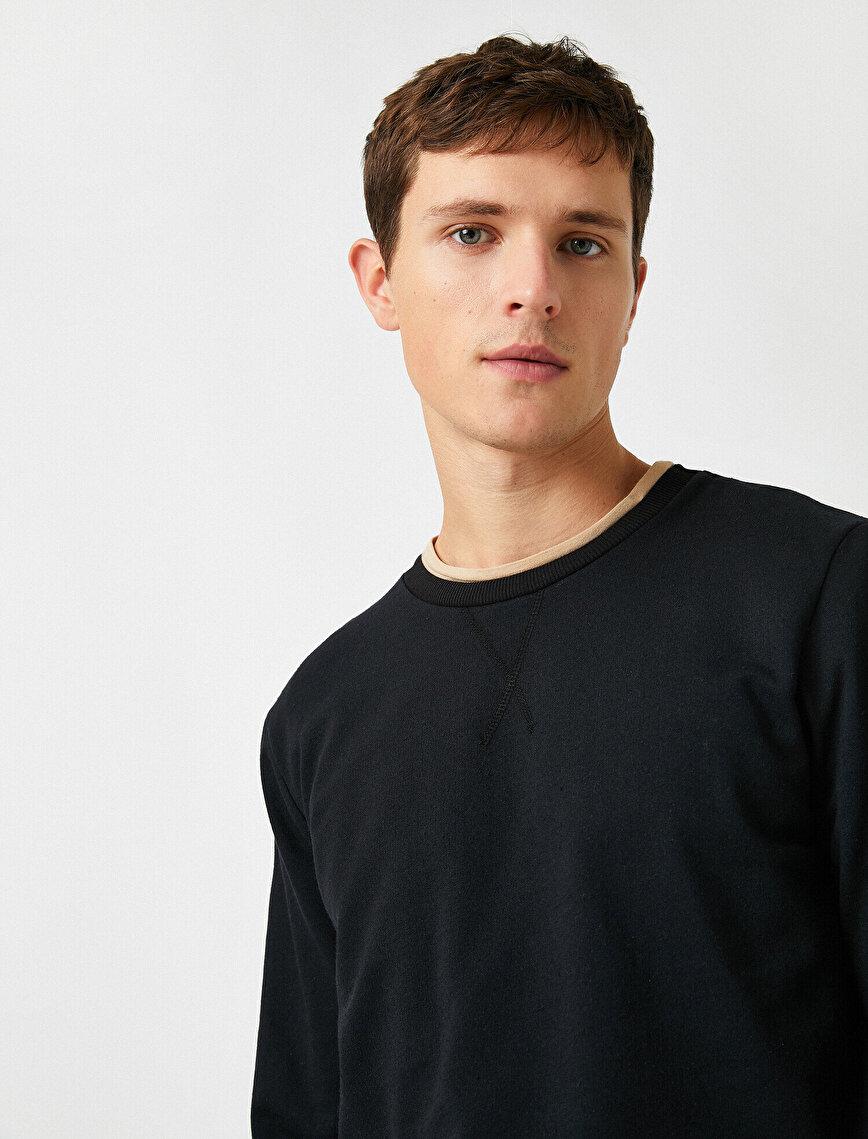 Crew Neck Basic Sweatshirt