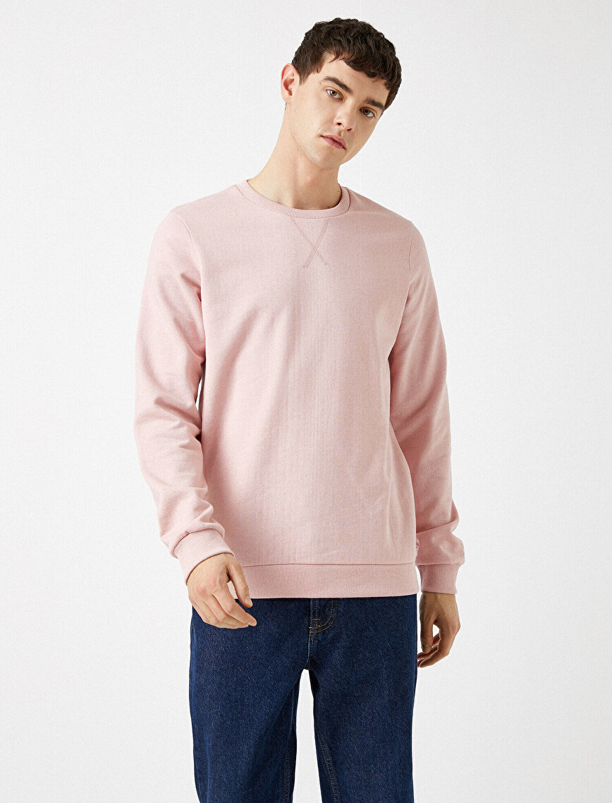 Crew Neck Basic Sweatshirt