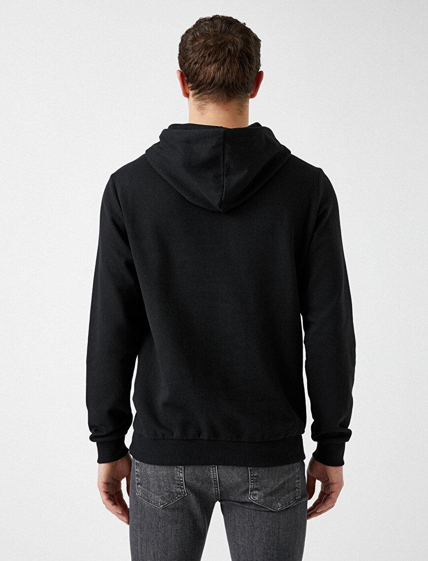 Hooded Cotton Long Sleeve Basic Sweatshirt