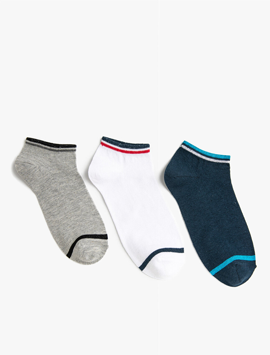 Erkek Şeritli Çorap Seti Pamuklu